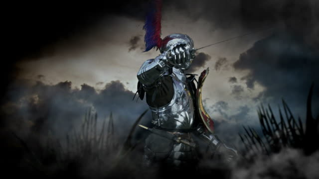 medieval knight - suit of armor stock videos and b-roll footage