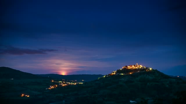 Medieval Motovun on the hilltop, Istria, Croatia