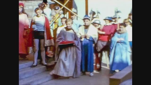 medieval parade on the streets - historical reenactment stock videos & royalty-free footage