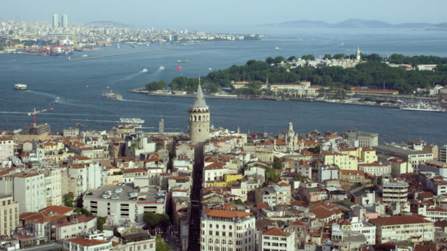 A Medieval Stone Tower In Istanbul