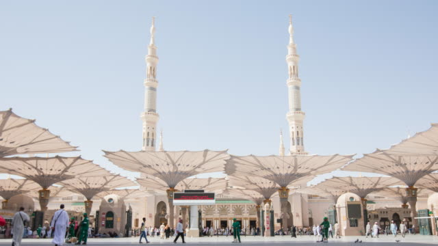 madinah ,saudi arabia - moschea video stock e b–roll