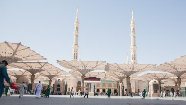 madinah, saudi arabia - famous place stock videos & royalty-free footage