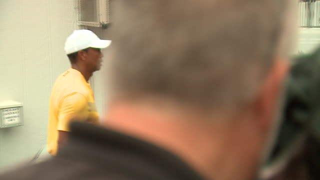 wgn medinah il us tiger woods walks and talks to media after the third round of the bmw championship at medinah country club on saturday august 17 - tiger woods stock videos & royalty-free footage