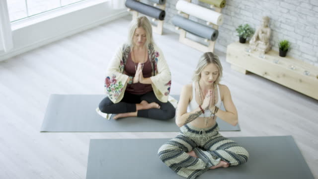 Meditating with Friend