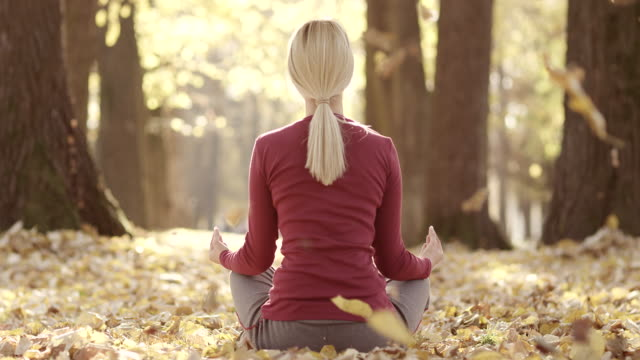 Meditation im park