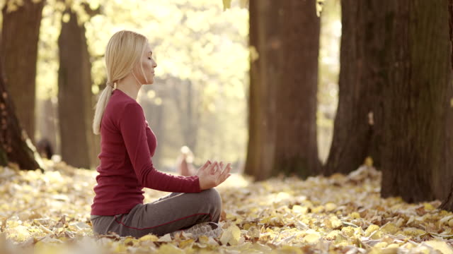 Meditatie in een park