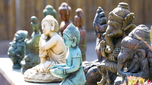meditation statues - new age stock videos & royalty-free footage