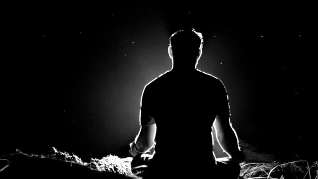 meditation - lotus position stock videos and b-roll footage