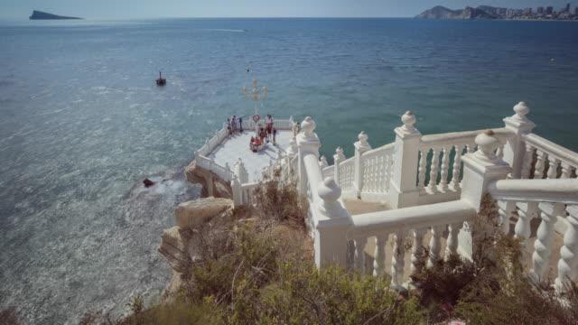 mediterranean balcony in benidorm, alicante - time lapse - steps stock videos & royalty-free footage