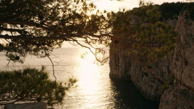 DS Mediterranean cliffs at sunset