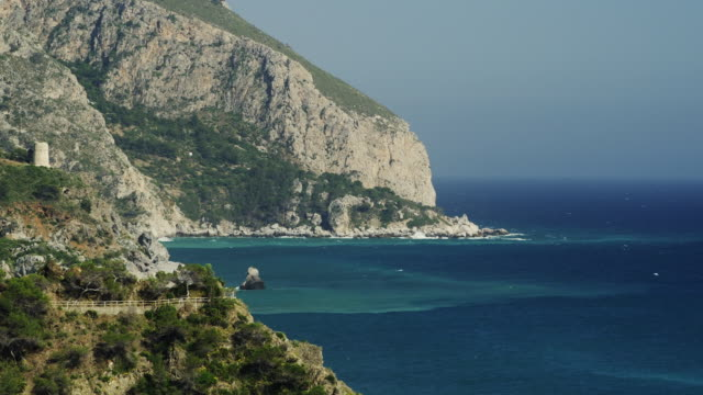 ws mediterranean coastline between nerja and almunecar / malaga, andalusia, malaga, spain - 2k resolution stock videos and b-roll footage