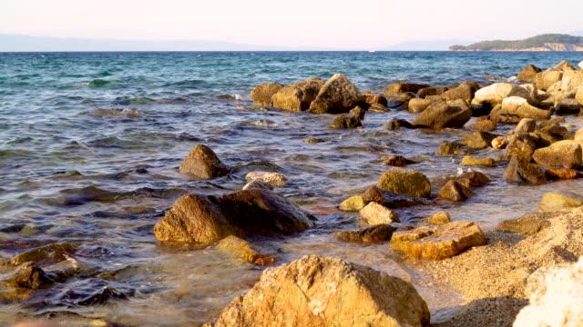 mediterranean coastline - seaweed stock videos & royalty-free footage