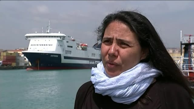 migrant ships capsize trying to get to europe italy sicily catania ext barbara molinaro interview sot - capsizing stock videos & royalty-free footage