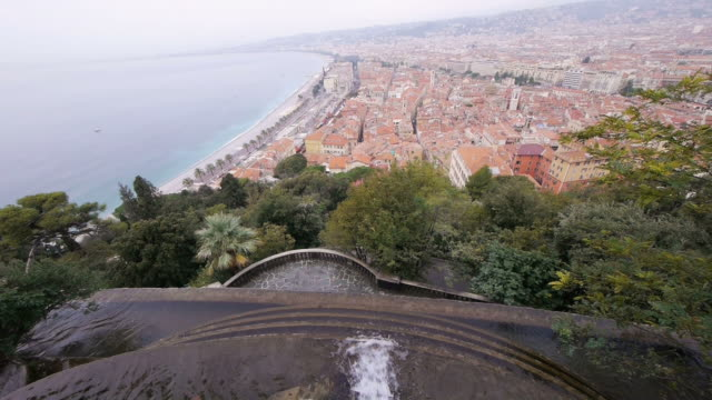 W/S, Mediterranean Sea, Azur, Mont Boron, fountain, mountaintop view, Nice, France