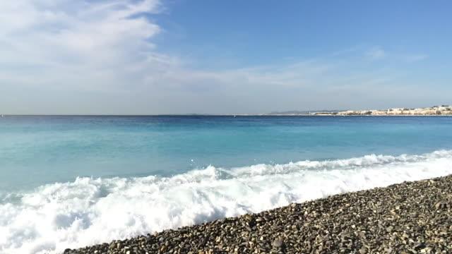 Mediterranean sea in Nice, France
