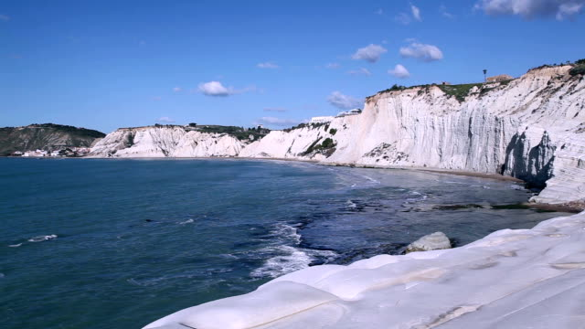 stockvideo's en b-roll-footage met mediterranean sea in sicily, italy. - sedimentary rock