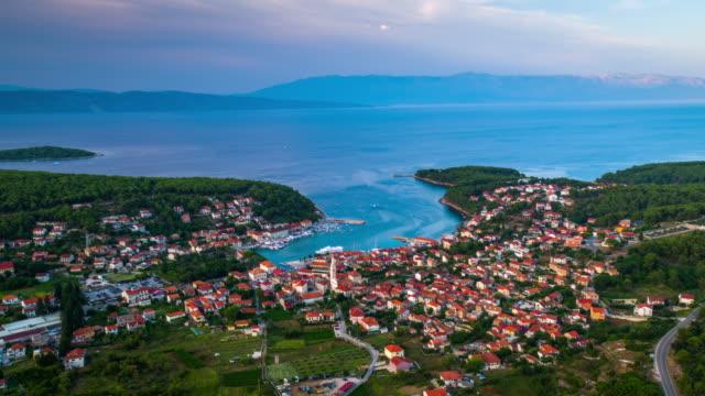 AERIAL: Mediterranean Town Jelsa, Hvar Island - Croatia
