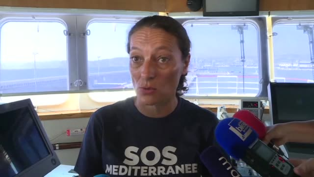 sos mediterranee executive director sophie beau says she regrets the lack of coordination of rescues at sea ever since the libyan coast guard was... - sos stock videos and b-roll footage