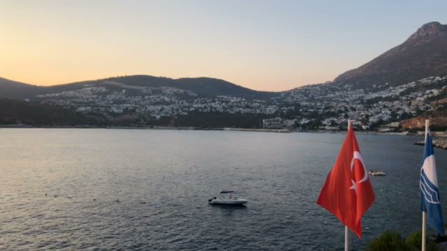 Mediterrenian Sea certified with blue flag in Turkey