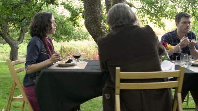 medium group of people eating and tasting wine - 40 49 years stock videos & royalty-free footage