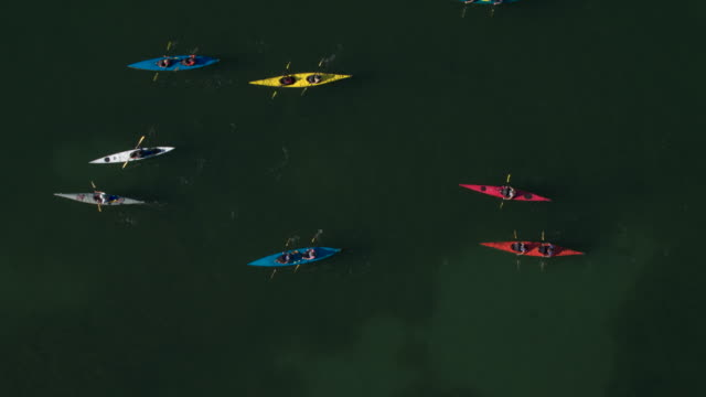Medium group of people kayaking