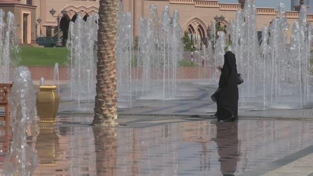 Medium shot Emirates Palace Hotel in Abu Dhabi capital of the United Arab Emirates Outside and inside views shot on Nov 1st 2012