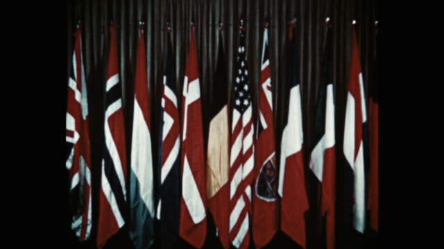 medium shot flag of the nations of nato washington dc usa - 10 seconds or greater stock videos & royalty-free footage
