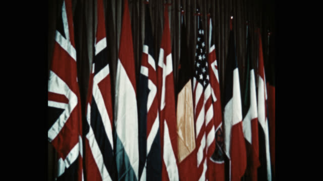 medium shot flag of the nations of nato, washington dc, usa - 10 seconds or greater stock videos & royalty-free footage