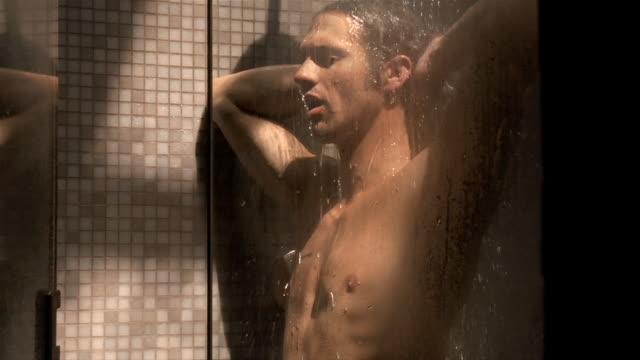 Medium shot man in shower