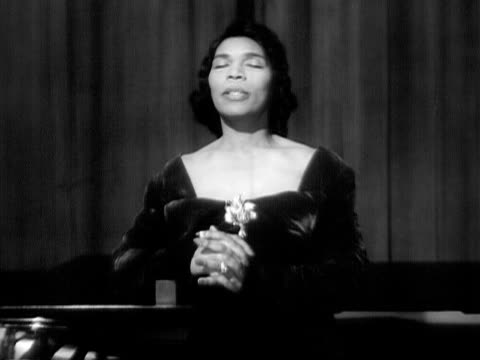 medium shot marian anderson singing onstage next to grand piano during her performance at the town hall/ manhattan new york usa - 1935 stock videos & royalty-free footage