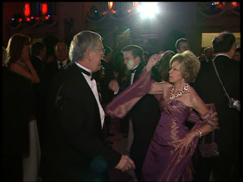 medium shot middle-aged couple dancing at bush inaugural ball / close up woman / audio / washington dc - dance floor stock videos & royalty-free footage
