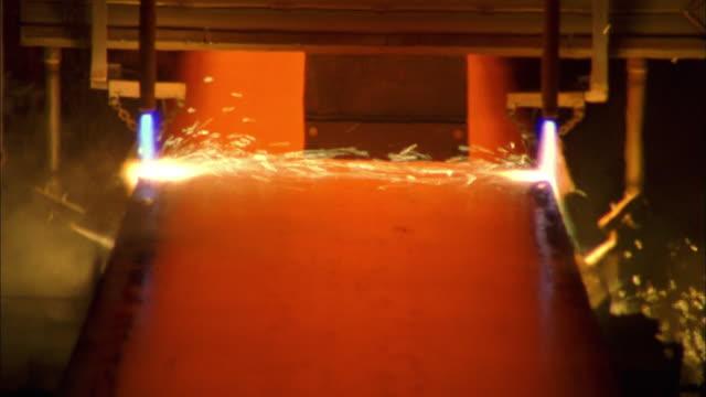medium shot molten steel - steel mill stock videos & royalty-free footage