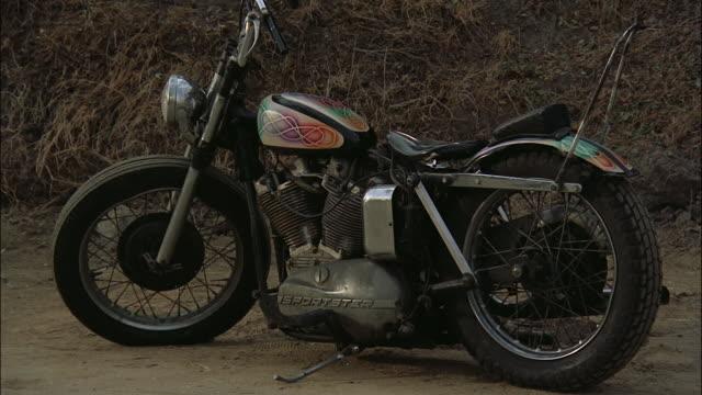 medium shot motorcycle explodes into fireball - 1969 stock videos & royalty-free footage