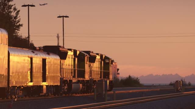 Medium shot of a stationary train