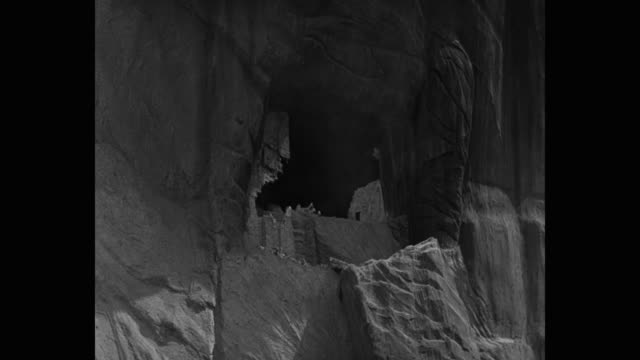 medium shot of adobe cliff dwellings collapsing during earthquake - puebloan peoples stock videos & royalty-free footage