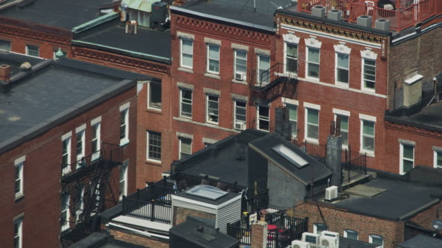 medium shot of apartment buildings at north end - massachusetts stock videos & royalty-free footage