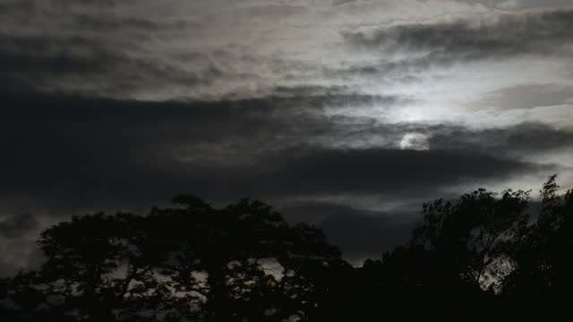 medium shot of clouds moving in front of the sun - toned image stock videos & royalty-free footage