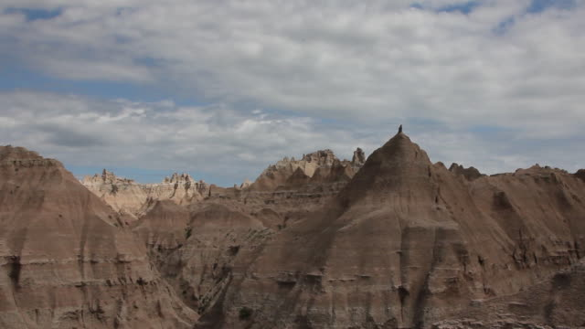 Medium Shot of crested buttes in Badlands National Park