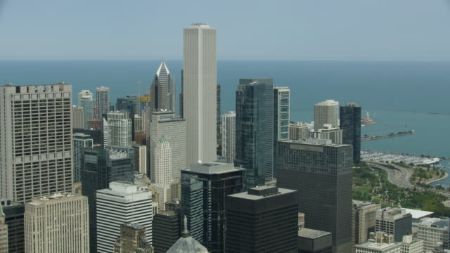 Medium shot of Downtown Chicago