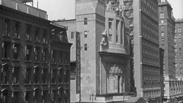 medium shot of exterior of ziegfeld theater building on 6th avenue and 54th street, manhattan, new york city, new york state, usa - 1928 stock videos & royalty-free footage