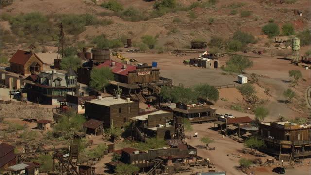 medium shot of goldfield ghost town in arizona - arizona stock videos & royalty-free footage