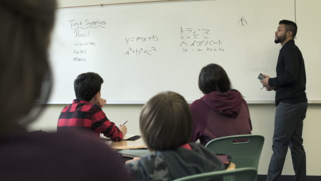Medium shot of Japanese language class