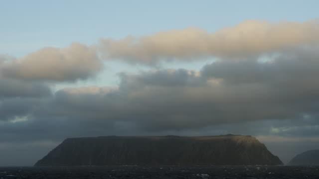 vidéos et rushes de medium shot of little diomede island - partie d'une série