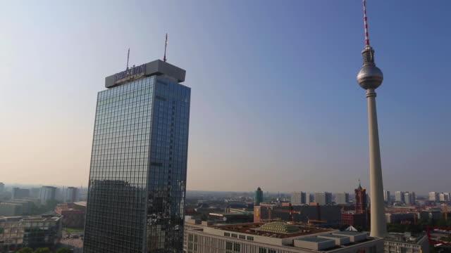 Medium Shot of Park Inn Hotel and the Berlin TV Tower