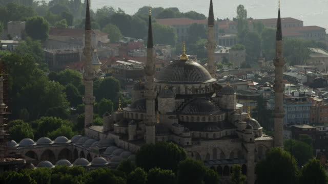 Medium Shot Of Sultan Ahmed Mosque