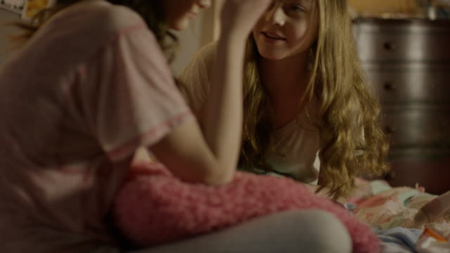 """""""medium shot of teenage girl consoling friend at sleepover / cedar hills, utah, united states"""" - only teenage girls stock videos and b-roll footage"""