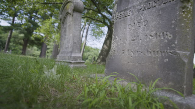medium shot of the headstones of john proctor and perley proctor - execution stock videos & royalty-free footage