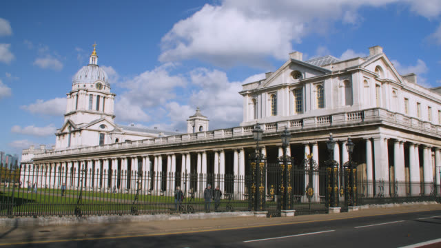 medium shot of the old royal naval college in greenwich, london - royal navy college greenwich stock videos & royalty-free footage