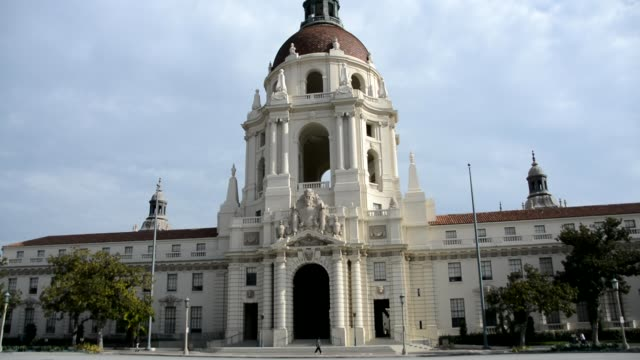 Medium shot of the Pasadena City Hall