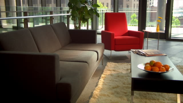 Sensational Medium Shot Pan Modern Furniture In Business Lobby Seattle Pdpeps Interior Chair Design Pdpepsorg